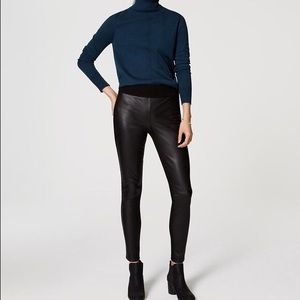 Loft petite faux leather leggings